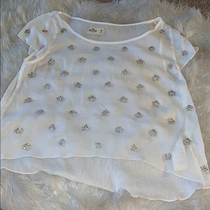 NWOT Hollister Sheer Baby Doll Top